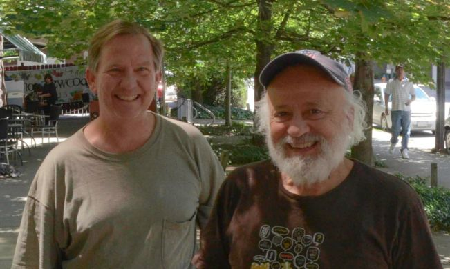 Brad Edmondon, author, and Jeff Furman, Chairman of the Board of Ben & Jerry's